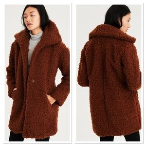 American Eagle Outfitters Faux Sherpa Cocoon Coat